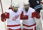 Detroit Red Wings forwards Henrik Zetterberg and Pavel Datsyuk