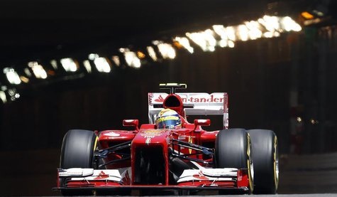 Ferrari Formula One driver Felipe Massa of Brazil drives during the second practice session of the Monaco F1 Grand Prix May 23, 2013. REUTER