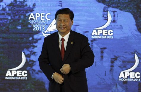 China's President Xi Jinping attends the Asia-Pacific Economic Cooperation (APEC) CEO Summit in Nusa Dua, on the Indonesian resort island of