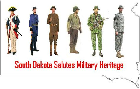 Representative Noem salutes South Dakota Veterans.  (MB Image)