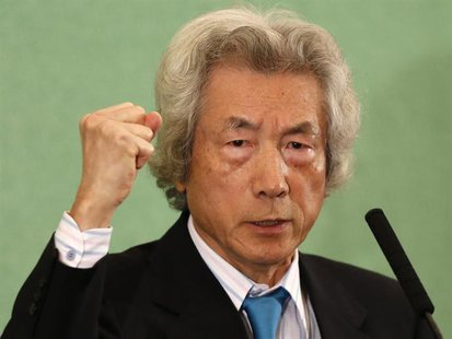 Japan's former Prime Minister Junichiro Koizumi speaks at the Japan National Press Club in Tokyo November 12, 2013. REUTERS/Toru Hanai
