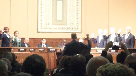 Commissioners take the oath