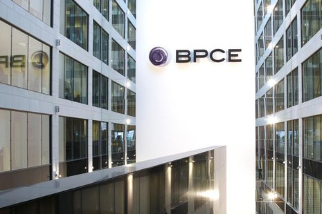View of the BPCE banking group headquarters during the company's 2011 annual results presentation in Paris February 23, 2012. REUTERS/Benoit