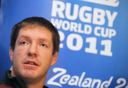 South Africa Springboks Bakkies Botha addresses a media conference in Wellington October 4, 2011. REUTERS/Mike Hutchings