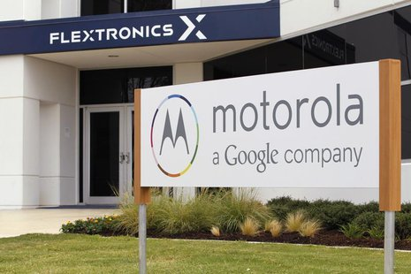 "The Flextronics plant that will be building the new Motorola smartphone ""Moto X"" is pictured in Fort Worth, Texas September 10, 2013. REUTER"