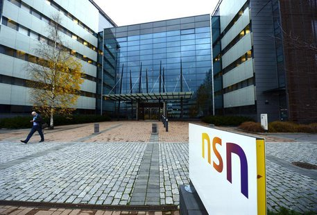 A view shows the headquarters of Nokia Solutions and Networks (NSN), formerly known as Nokia Siemens Networks, in Espoo October 29, 2013. RE
