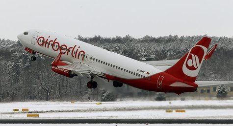 A German carrier Air Berlin aircraft takes off at Tegel airport in Berlin, March, 20, 2013. REUTERS/Fabrizio Bensch