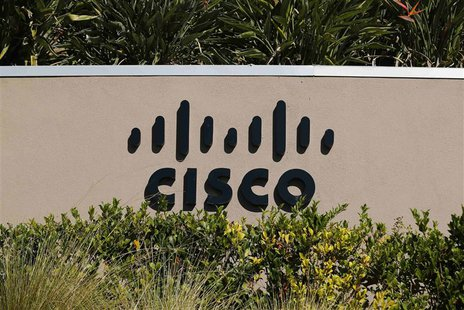 A sign marking a Cisco office is pictured in San Diego, California in this November 12, 2012 file photo. REUTERS/Mike Blake/Files