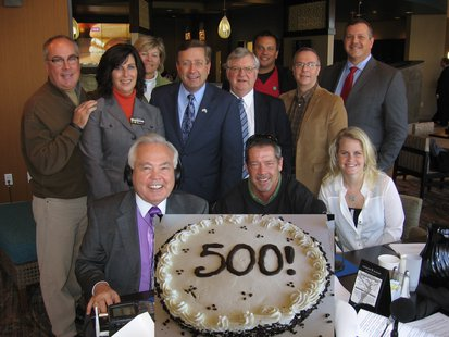Special guests appear on It's Your Business with Bill Zortman and his 500th show.  (KELO AM)