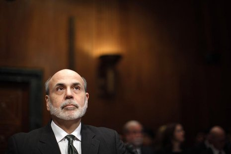 U.S. Federal Reserve Chairman Ben Bernanke is pictured as he testifies at a Senate Budget Committee hearing on the outlook for the U.S. Mone