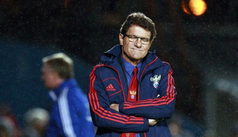 Russia's manager Fabio Capello reacts after they were beaten by Northern Ireland in their World Cup qualifying soccer match at Windsor Park
