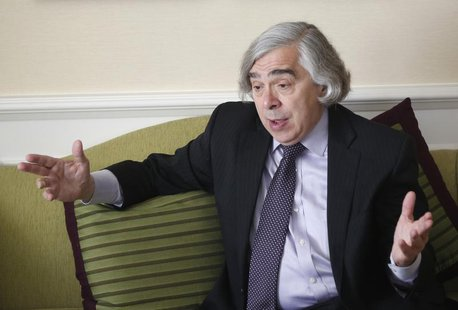 U.S. Secretary of Energy Ernest Moniz gestures during an interview with Reuters in Vienna June 30, 2013. REUTERS/Leonhard Foeger