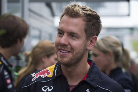 Red Bull Formula One driver Sebastian Vettel of Germany arrives at the Circuit of the Americas in Austin, Texas November 14, 2013. REUTERS/A