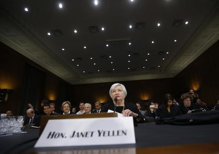 Janet Yellen, President Barack Obama's nominee to lead the U.S. Federal Reserve, is pictured at her U.S. Senate Banking Committee confirmati