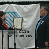 Lt. Gov. Rebecca Kleefisch presents Governor's Proclamation to Wisconsin Rapids Boys & Girls Club Exec. Director Rob Wefel