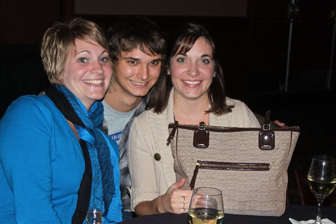 These ladies had a choice: Win a purse...or win Tanner. They chose the purse.