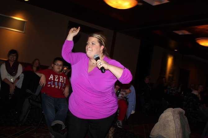 "Rockin' some N'Sync ""Bye Bye Bye"" during the Lip-Sync competition!"
