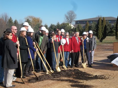 Groundbreaking for Marshfield Student Housing 11/15/13
