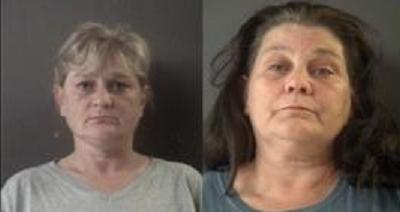 Diane Hart and Vickie Brill (mugshots courtesy of Muskegon County)
