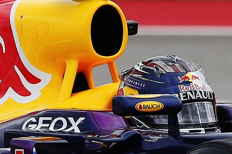 Red Bull Formula One driver Sebastian Vettel of Germany drives during the qualifying session of the Austin F1 Grand Prix at the Circuit of t