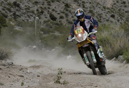 Kurt Caselli of the U.S rides his KTM during the 8th stage of the Dakar Rally 2013 from Salta to San Miguel de Tucuman January 12, 2013 file