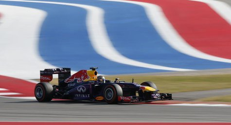 Red Bull Formula One driver Sebastian Vettel of Germany drives during the Austin F1 Grand Prix at the Circuit of the Americas in Austin Nove