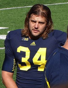 Michigan Wolverines kicker Brendan Gibbons (Wikipedia)