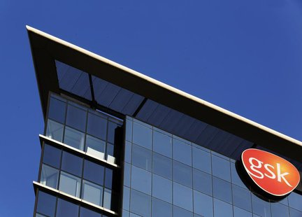 The GlaxoSmithKline building is pictured in Hounslow, west London June 18, 2013. REUTERS/Luke MacGregor
