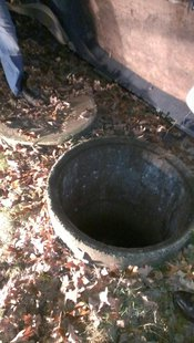 Picture of well that girl fell into. provided by Riley Fire Dept.