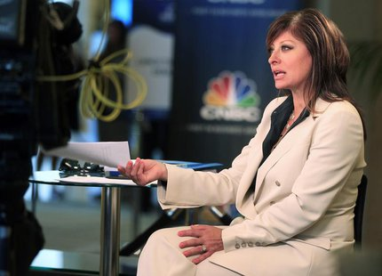 "Television journalist Maria Bartiromo, anchor of CNBC's ""Closing Bell with Maria Bartiromo,"" is shown on location at the Milken Institute Gl"