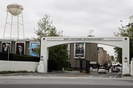An entrance gate to Sony Pictures Entertainment at the Sony Pictures lot is pictured in Culver City, California April 14, 2013. REUTERS/Fred