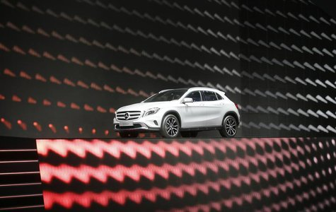 The new SUV Mercedes GLA is displayed during a media preview day at the Frankfurt Motor Show (IAA) September 10, 2013. REUTERS/Wolfgang Ratt