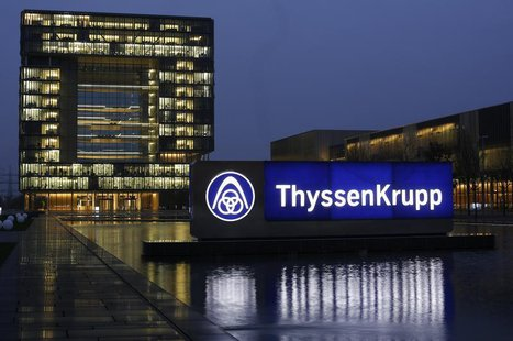 General view of the headquarters of Germany's top steelmaker ThyssenKrupp in Essen November 18, 2013. REUTERS/Ina Fassbender
