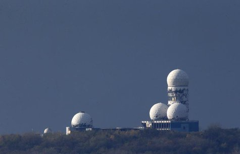 Antennas of the former National Security Agency (NSA) listening station are seen at the Teufelsberg hill, or Devil's Mountain in Berlin, Nov
