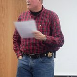 Branch County Sheriff John Pollack at the Branch County Township Supervisors meeting November 18, 2013