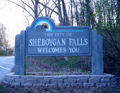 Sheboygan Falls welcome sign