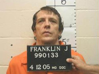 Joseph Paul Franklin is seen in a booking photo provided by the Missouri Department of Corrections taken April 12, 2005. REUTERS/Missouri De