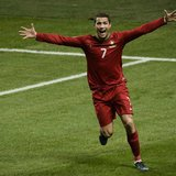 Portugal's Cristiano Ronaldo celebrates his goal against Sweden during the second leg of their 2014 World Cup qualifying soccer match agains