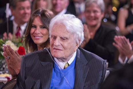 Billy Graham is pictured during a celebration for his 95th birthday in Asheville, North Carolina, in this November 7, 2013 handout photo pro