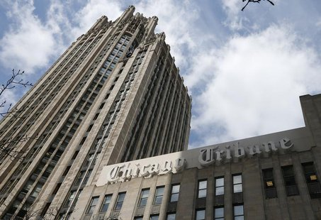 The Chicago Tribune building is seen in Chicago, April 24, 2013. REUTERS/Jim Young