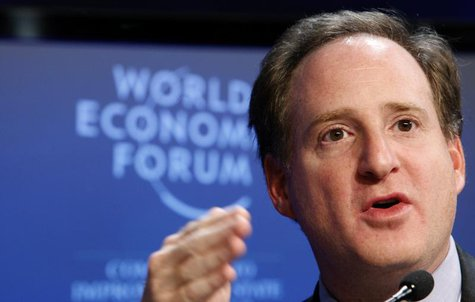 Eric Mindich, Founder and CEO of Eton Park Capital Management attends a session at the World Economic Forum (WEF) in Davos January 29, 2010.