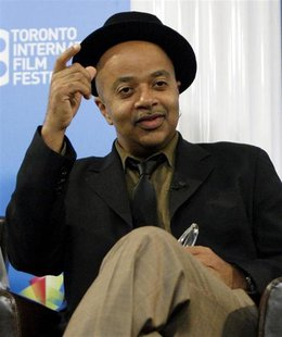 "Author James McBride gestures during the ""Miracle at St. Anna"" news conference at the 33rd Toronto International Film Festival September 7,"