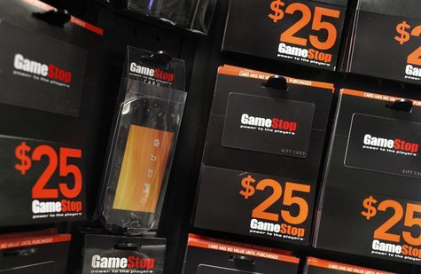 GameStop money cards are seen inside the video-game retail store in New York March 18, 2010. REUTERS/Shannon Stapleton