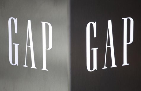 Gap logos are seen outside a Hong Kong's first Gap Store before its opening in the financial Central district November 25, 2011. REUTERS/Tyr