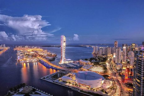 The SkyRise Miami tower is pictured in this artist's rendering courtesy of Berkowitz Development Group, Inc., received by Reuters on Novembe
