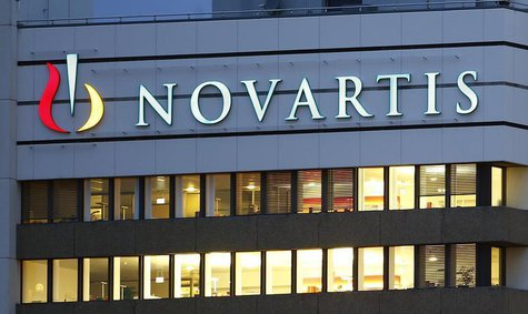 The logo of Swiss drugmaker Novartis is seen at its headquarters in Basel October 22, 2013. Novartis raised its full-year outlook for a seco