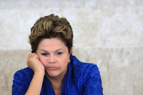 Brazil's President Dilma Rousseff attends the launching ceremony of sectoral plans for the mitigation of climate change at the meeting of th