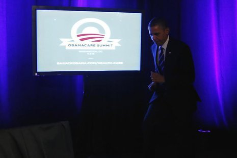 U.S. President Barack Obama takes the stage to deliver remarks on the Affordable Care Act, commonly known as Obamacare, at an Organizing for