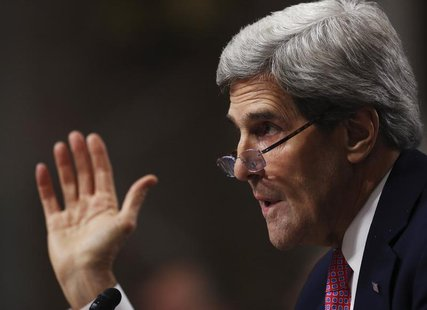 "U.S. Secretary of State John Kerry testifies at the Senate Foreign Relations Committee regarding the ""Convention on the Rights of Persons wi"