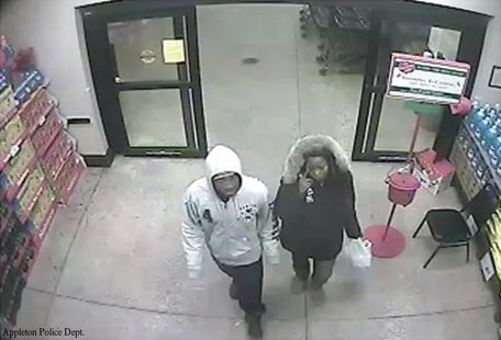 This surveillance photo shows the suspects in a Nov. 21, 2013 purse snatching at an Appleton grocery store.